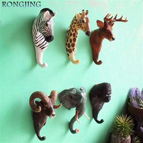 Wallflower Decorative Clothes Hooks by Perspective Retro Cafe Wall Hooks Mural Cloth Wall Hanger