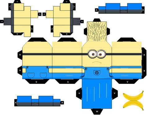 minion papercraft template minion0 0fat by tyumenb on deviantart