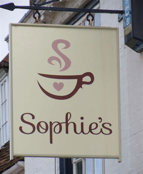 coffee shop signage design sophie s coffee shop logo by tinstar design
