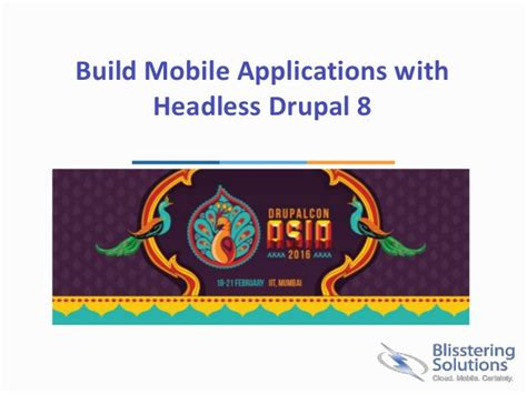 build mobile application build mobile applications with headless drupal 8
