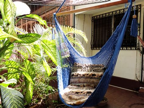 sitting hammock royal blue sitting hammock hanging chair natural cotton and