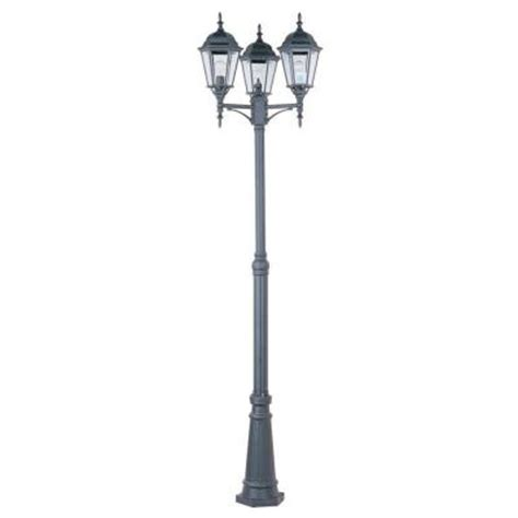 home depot christmas light pole maxim lighting poles outdoor pole post mount 1105bk the home depot