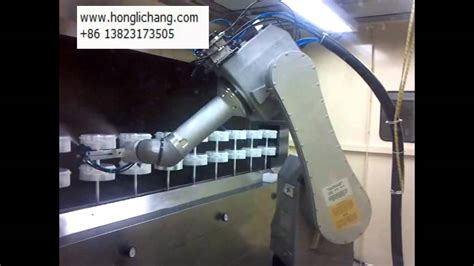 spray painting robot project turnkey project of fanuc robot spray painting line for