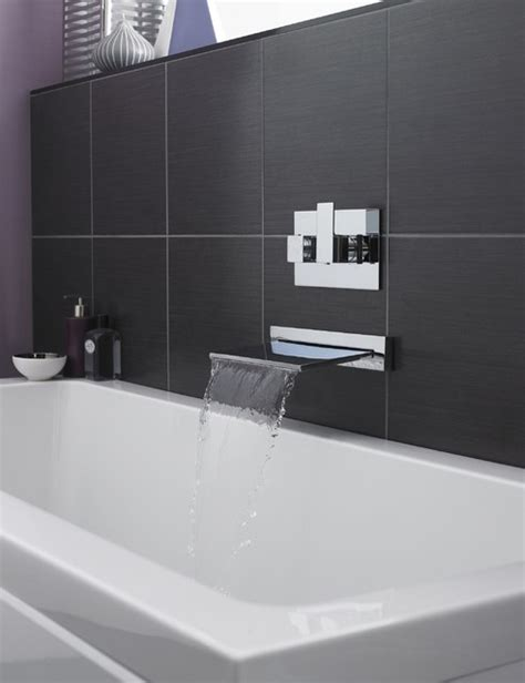 Modern Bathroom Taps Uk Waterfall Tub Filler Modern Bathroom Faucets And Showerheads Manchester Uk By Hudson Reed