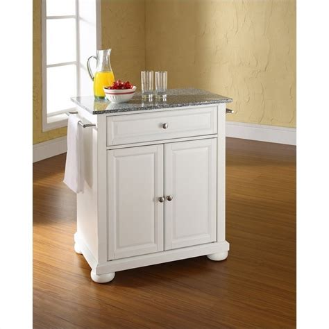 white kitchen island granite top crosley furniture alexandria solid granite top kitchen