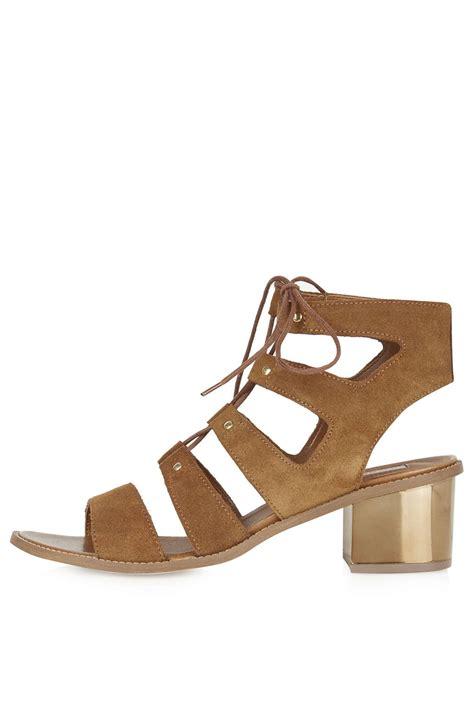 ghillie sandals nugget ghillie bronze heel sandals sandals shoes
