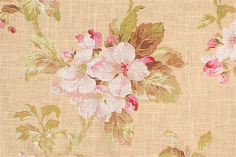 floral drapery fabric duralee floral printed linen drapery fabric