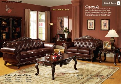 Elegant Living Room Decorating Ideas With Brown Leather Style Living Room Furniture