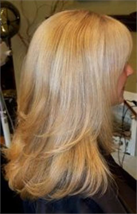level 8 lowlights blonde on blonde level 9 base with aveda enlighter