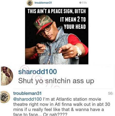 Big Words Meme - t i challenges fan to fight for talking slick on instagram