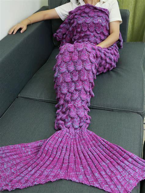 Knitted Mermaid Blanket sale knitting fish scales design mermaid style