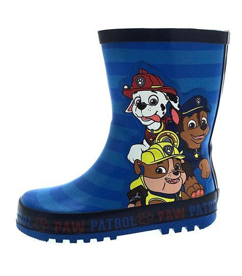 paw patrol rubble boat boys paw patrol wellington boots blue rubber rain wellies