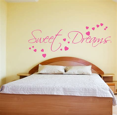 bedroom quote wall stickers sweet dreams wall sticker decals quotes bedroom w43 ebay