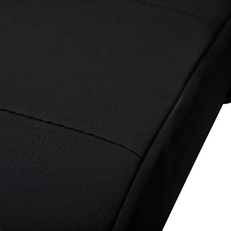 vidaxl co uk black artificial leather chaise longue with