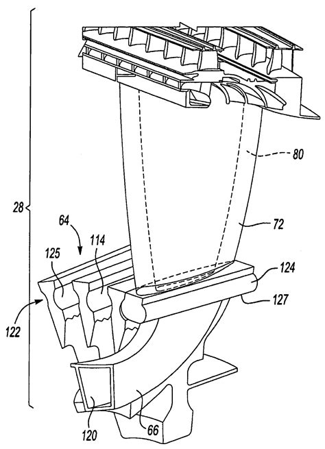 blade section patent us7887296 fan blade with integral diffuser