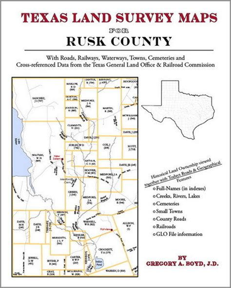 rusk county texas map rusk county texas land survey maps genealogy history ebay