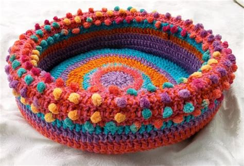 crochet cat bed free patterns for pet beds myideasbedroom com