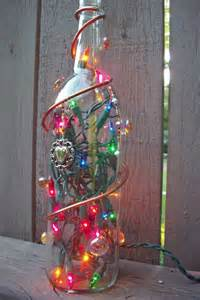 recycled lighted bottle with decorations how to make