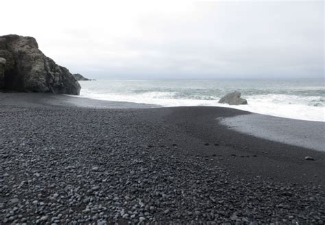 beaches with black sand black sands whitethorn ca california beaches