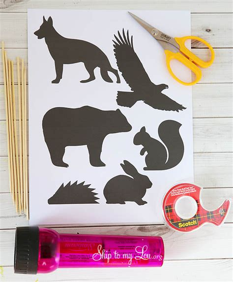 Fun To See Wall Stickers diy shadow puppets free printable skip to my lou