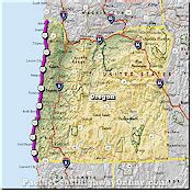 map of hwy 101 oregon pacific coast highway