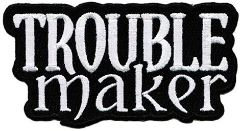 2018 custom the cheap low price with trouble maker patch