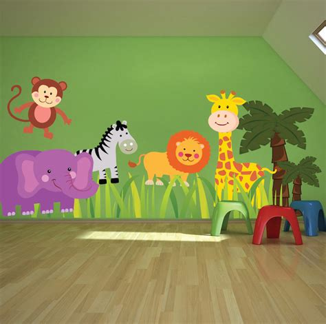 animal stickers for walls nursery zoo wall decal animal wall decal murals
