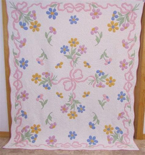 Bridal Bouquet Quilt Pattern by 420 Best Vintage Applique Quilts Images On