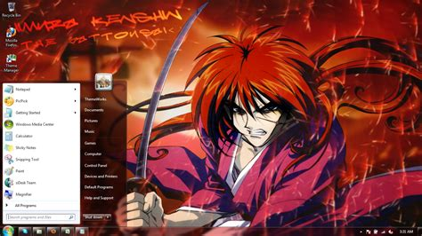 Rurouni Kenshin Vii rurouni kenshin 1 windows 7 themes by windowsthemes on deviantart