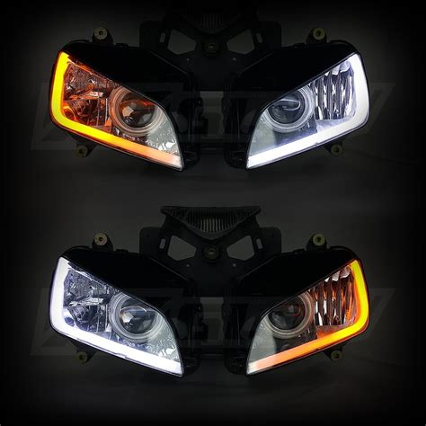 Led Light Strips For Car Headlights 2pc Sequential Switchback Led Kit Drl Turnsignal For Headlights Mr Kustom Auto