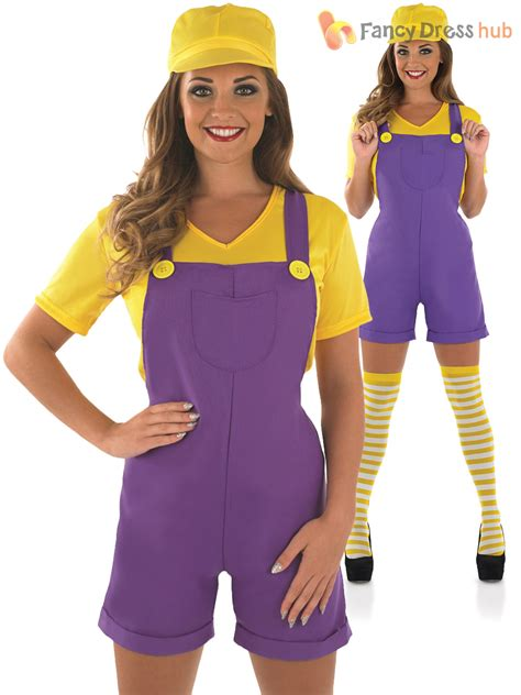 80s Clothes For by Mario Luigi Costume Plumber Bro Fancy