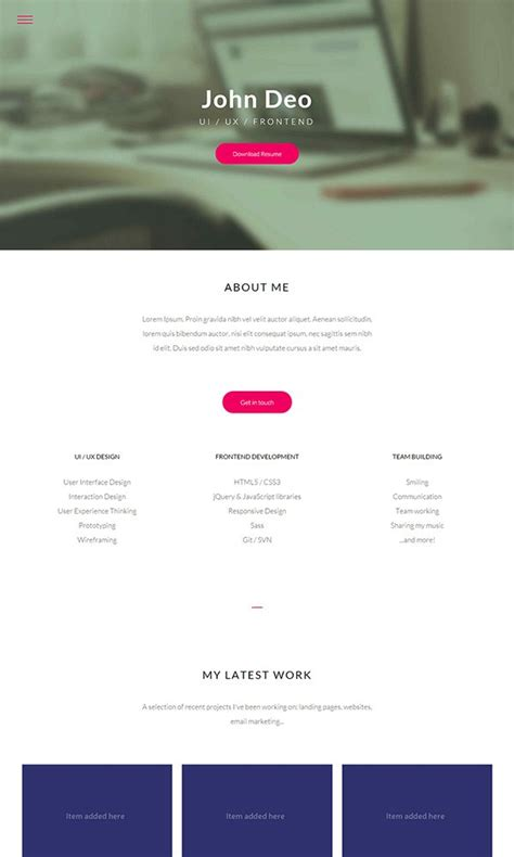 26 Best Free Bootstrap Html5 Website Templates February 2015 Edition Html5 Personal Website Template