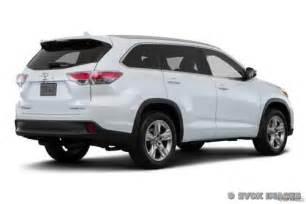 Toyota Highlander Price 2016 Toyota Highlander Pricing Features Edmunds