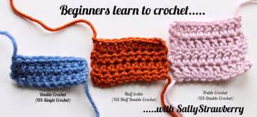 sallystrawberry learn to crochet double crochet