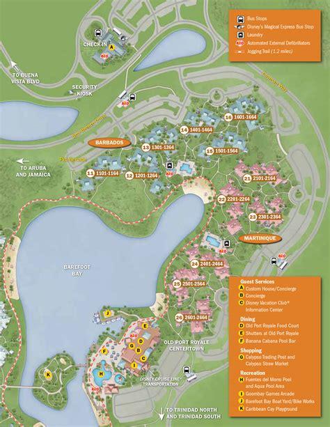 map of caribbean resort in disney 2013 caribbean resort guide map photo 4 of 6