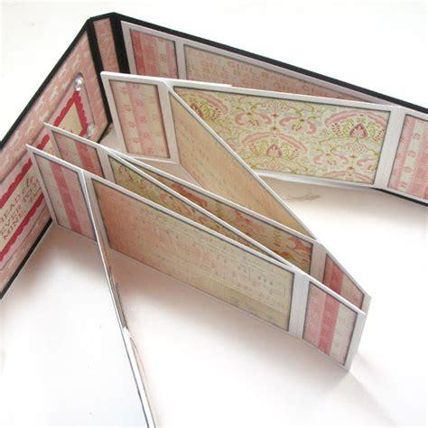 tutorial bìa scrapbook baby boy girl accordion zig zag mini albums with