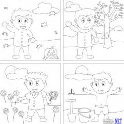 seasons of the year colouring pages