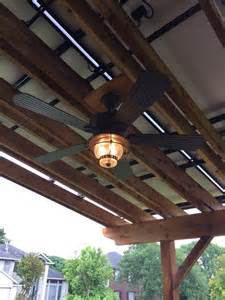 Pergola With Outdoor Ceiling Fan Outdoor Ceiling Fan Installed Solar Pergola