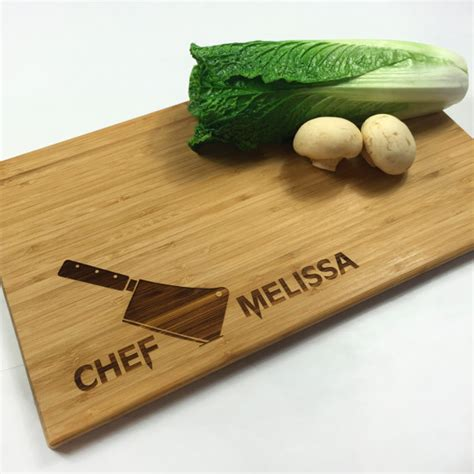 cutting board personalized wedding gift chefs knife chef name