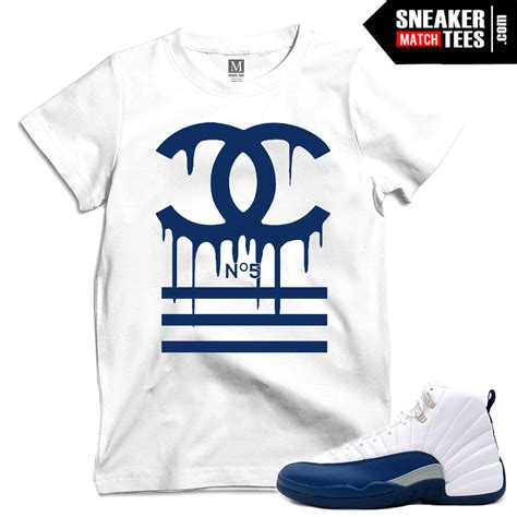 French Blue 12s matching T shirts | Sneaker Match Tees Jordan 12 French Blue Shirt