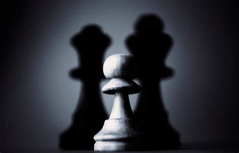 A Light In The Shadow free stock photo of black and white chess