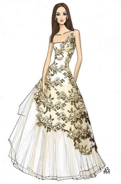 fashion illustration dress dress fashion