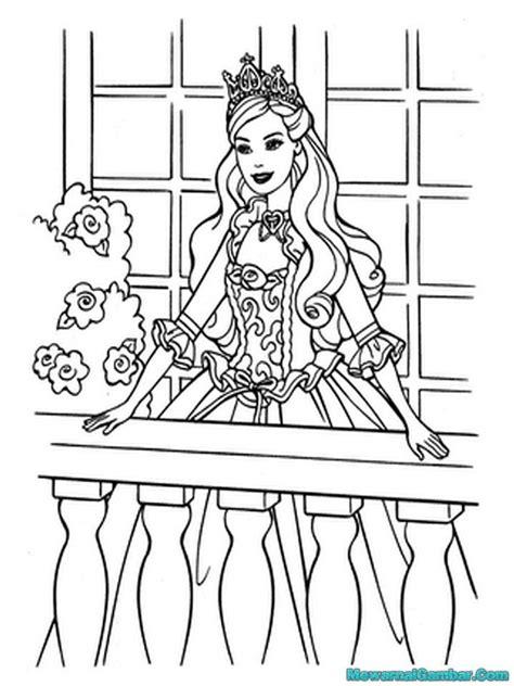Mewarnai Gambar Barbie | Mewarnai Gambar
