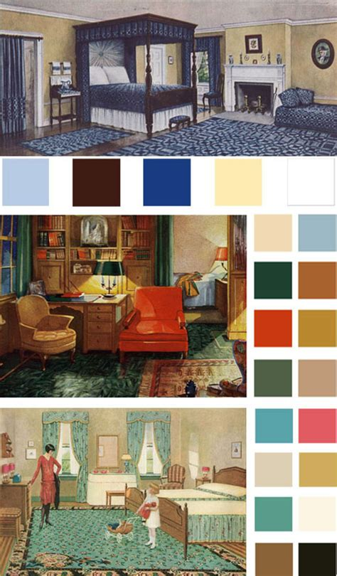Vintage Bedroom Colours by 6 Color Palettes Based On Early 1900s Vintage Bedrooms