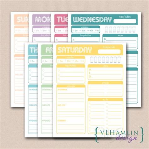 printable planner set 10 images about stay at home mom on pinterest