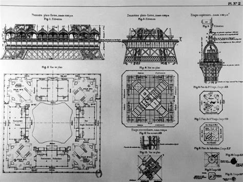 Eiffel Tower Floor Plan the history and construction of the eiffel tower un jour