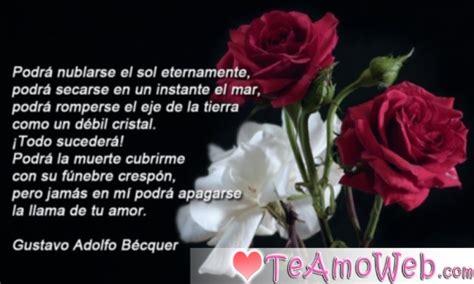 imagenes de poemas de amor eterno poema de gustavo adolfo b 233 cquer quot amor eterno quot te amo web