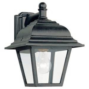 homedepot outdoor lighting sea gull lighting bancroft 1 light black outdoor wall