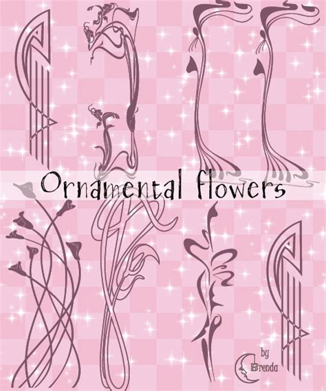 oriental pattern brush photoshop ornamental flowers brushes by coby17 on deviantart