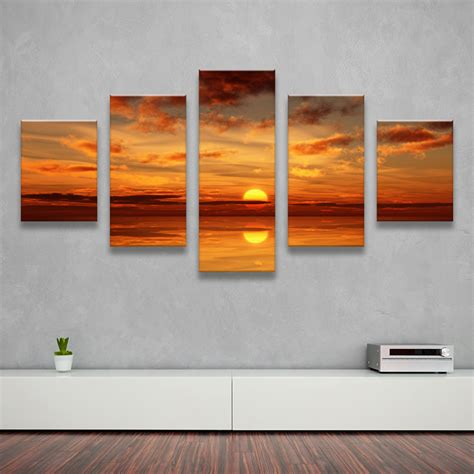 canvas decorations for home 5pcs home decor canvas wall art decor painting sundown